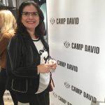 Stilberaterin Elena Grätz bei der Eröffnung von CAMP DAVID