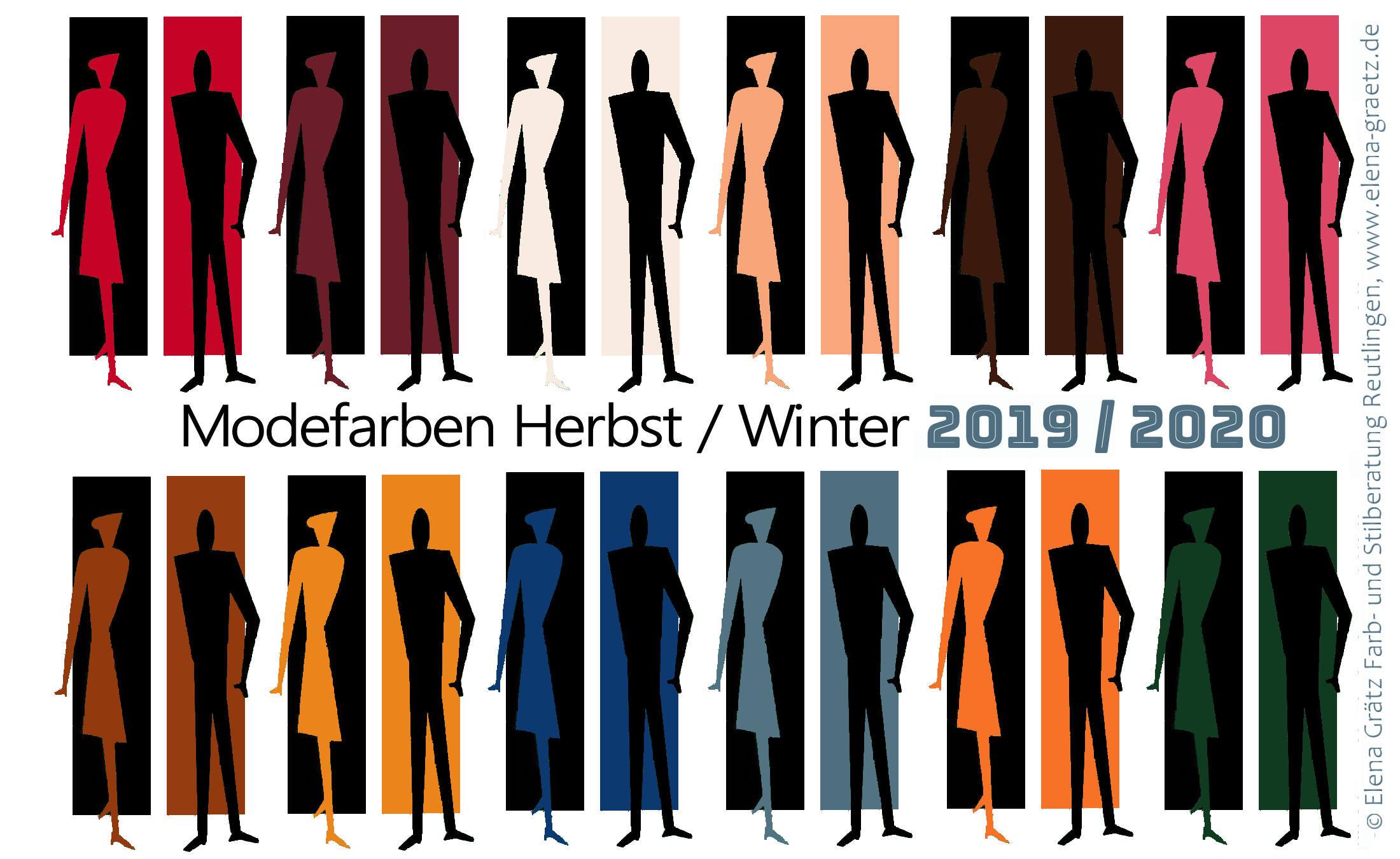 Die 12 Trendfraben für die Mode im Herbst / Winter 2019